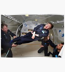 Stephen Hawking no gravity Poster