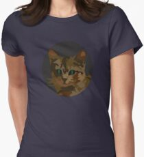 Beautiful Cat Illustration Women's Fitted T-Shirt