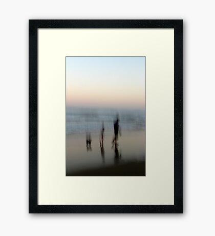 Beach Impressions - Walk This Way Framed Print