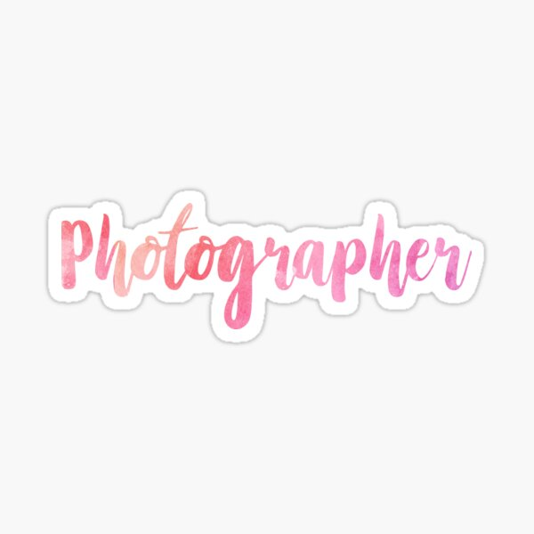 Photographer Sticker
