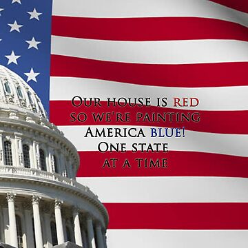 Red House in a Blue America by AuntyReni