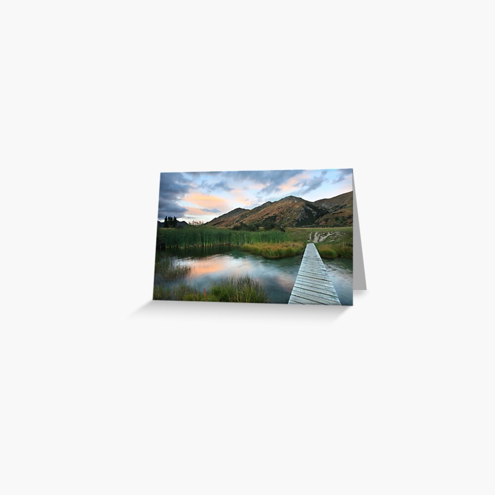 Last of the Light, Queenstown, South Island, New Zealand Greeting Card