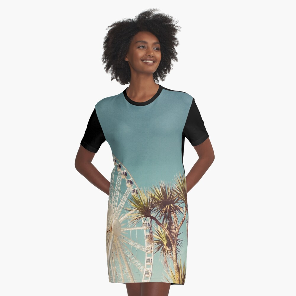 The Height of Summer Graphic T-Shirt Dress