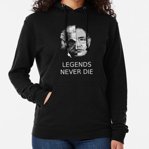 Albert Einstein - Stephen Hawking - Las leyendas nunca mueren Sudadera ligera con capucha