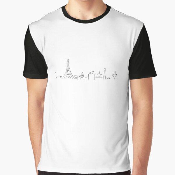 Skyline de Paris T-shirt graphique