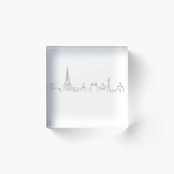 Paris skyline Acrylic Block