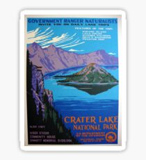 Vintage Crater Lake Oregon Travel Sticker