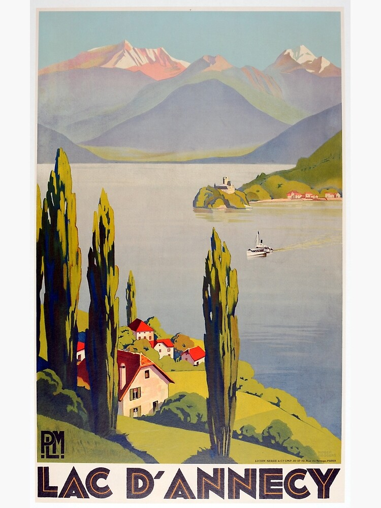 Vintage Lake Annecy France Travel by pdgraphics
