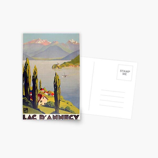 Voyage Lac Annecy France Vintage Carte postale