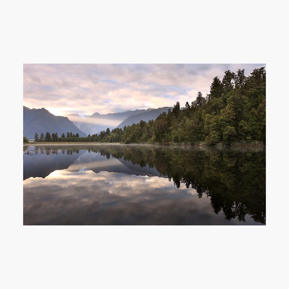 Lake Matheson Dawn, South Island, New Zealand Photographic Print