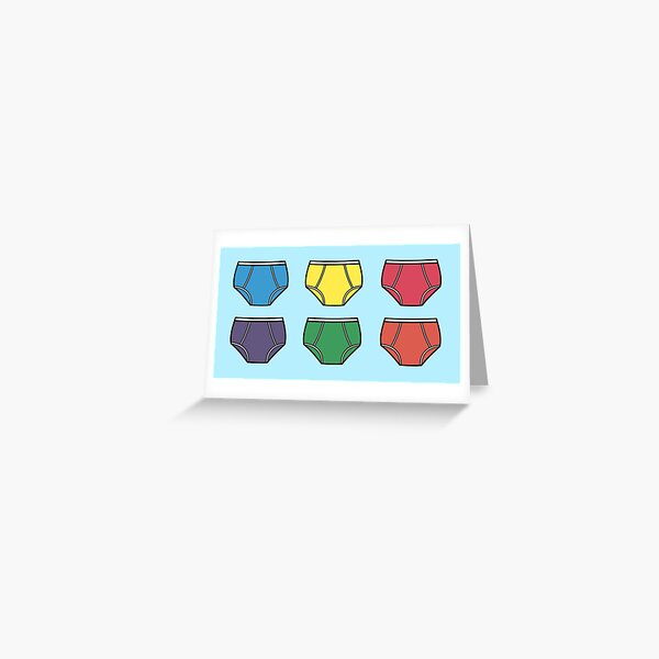 Underwear Pattern Greeting Card
