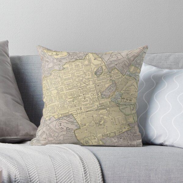 Vintage Map of Edinburgh Scotland (1901) Throw Pillow