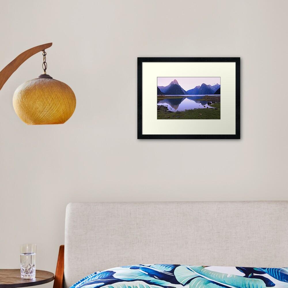 Milford Sound Dawn, South Island, New Zealand Framed Art Print