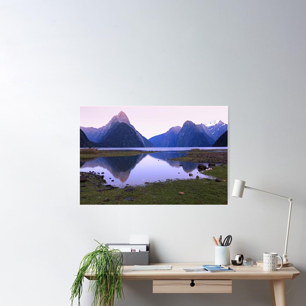 Milford Sound Dawn, South Island, New Zealand Poster