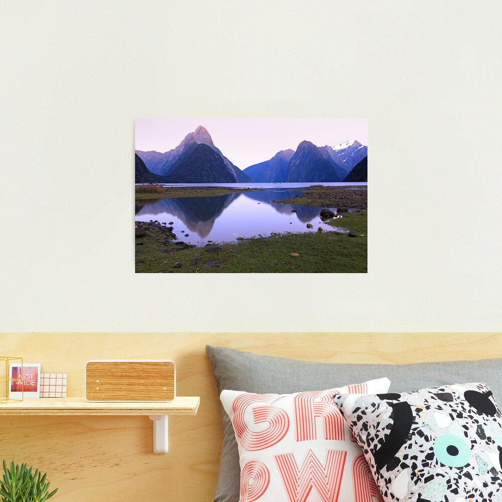 Milford Sound Dawn, South Island, New Zealand Photographic Print