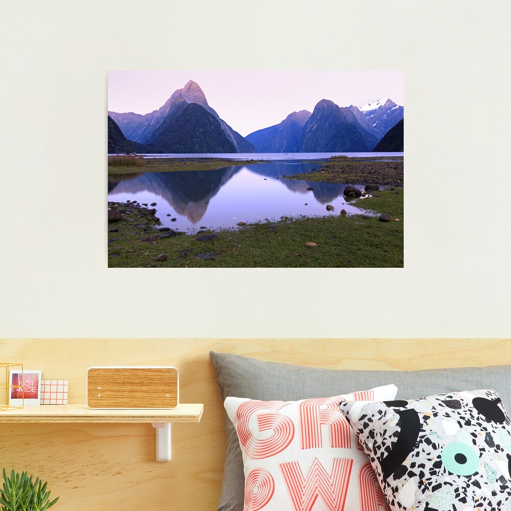 Milford Sound Dawn, South Island, New Zealand Photographic Print