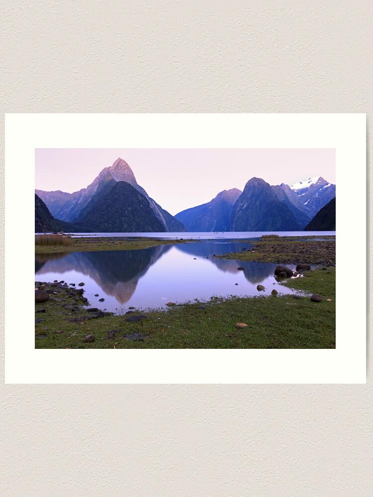 Alternate view of Milford Sound Dawn, South Island, New Zealand Art Print