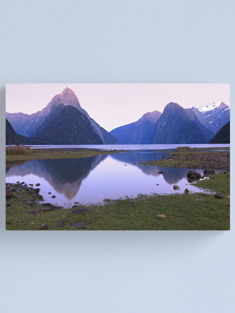 Alternate view of Milford Sound Dawn, South Island, New Zealand Canvas Print