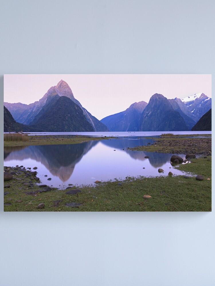 Alternate view of Milford Sound Dawn, South Island, New Zealand Canvas Print