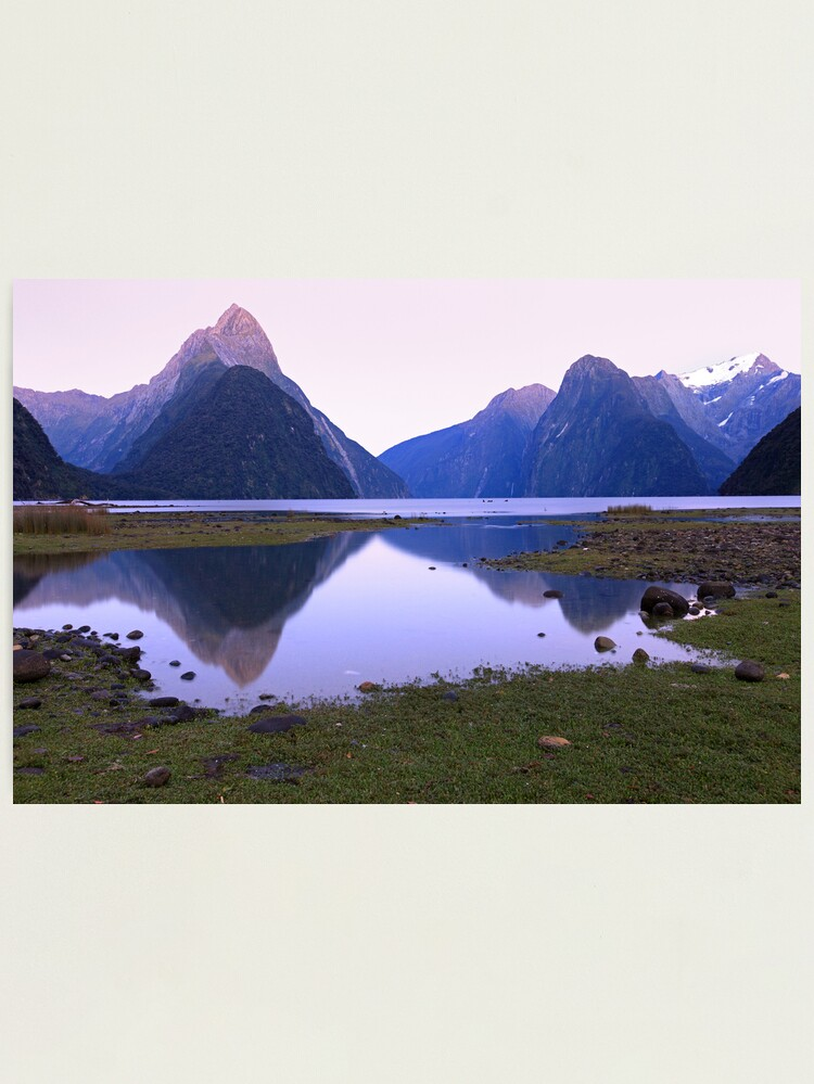 Alternate view of Milford Sound Dawn, South Island, New Zealand Photographic Print