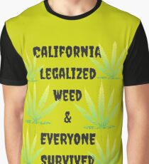 California Legalized Weed and Everyone Survived Graphic T-Shirt