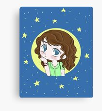 Chibi blue Canvas Print
