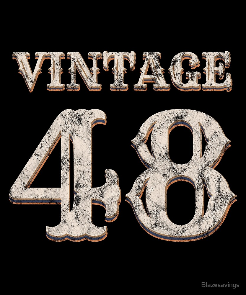 Vintage 48 Tshirt 70th Birthday Gift For 70 Year Old By