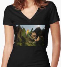 Battle for Dragon Mountain Women's Fitted V-Neck T-Shirt