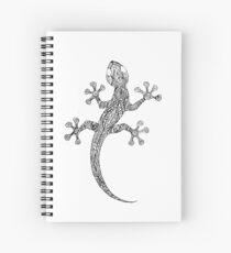 Cuaderno de espiral gecko blanco y negro