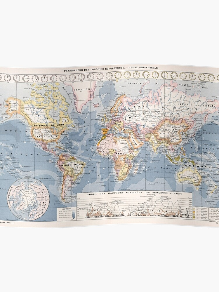 Map 1900.Vintage Map Of The World 1900 Poster