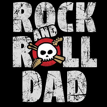 Rock and Roll Dad Skull and Guitar Logo by SunnyStreet