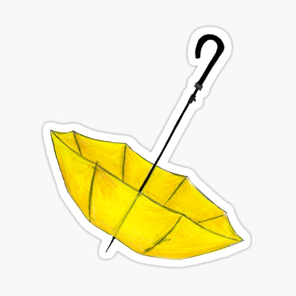 El paraguas amarillo Pegatina