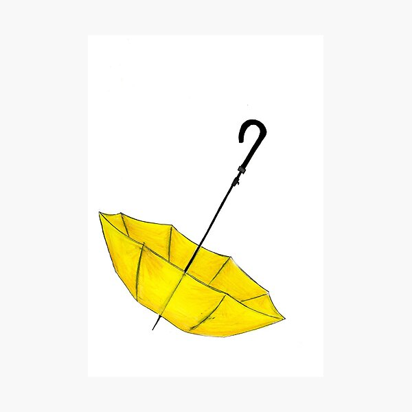 The Yellow Umbrella Photographic Print