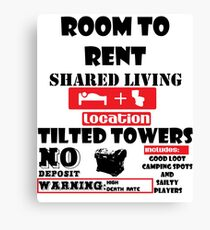 fortnight room to rent Canvas Print