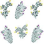 Dainty Flowers Pattern by shoshannahscrib