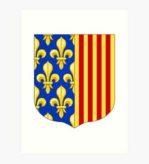 French France Coat of Arms 0107 Arms of the French Department of Lozère  Art Print