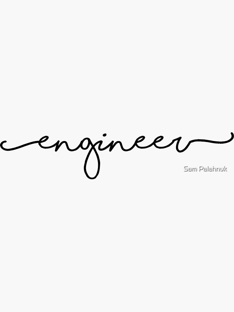 engineer sticker by sampalahnukart