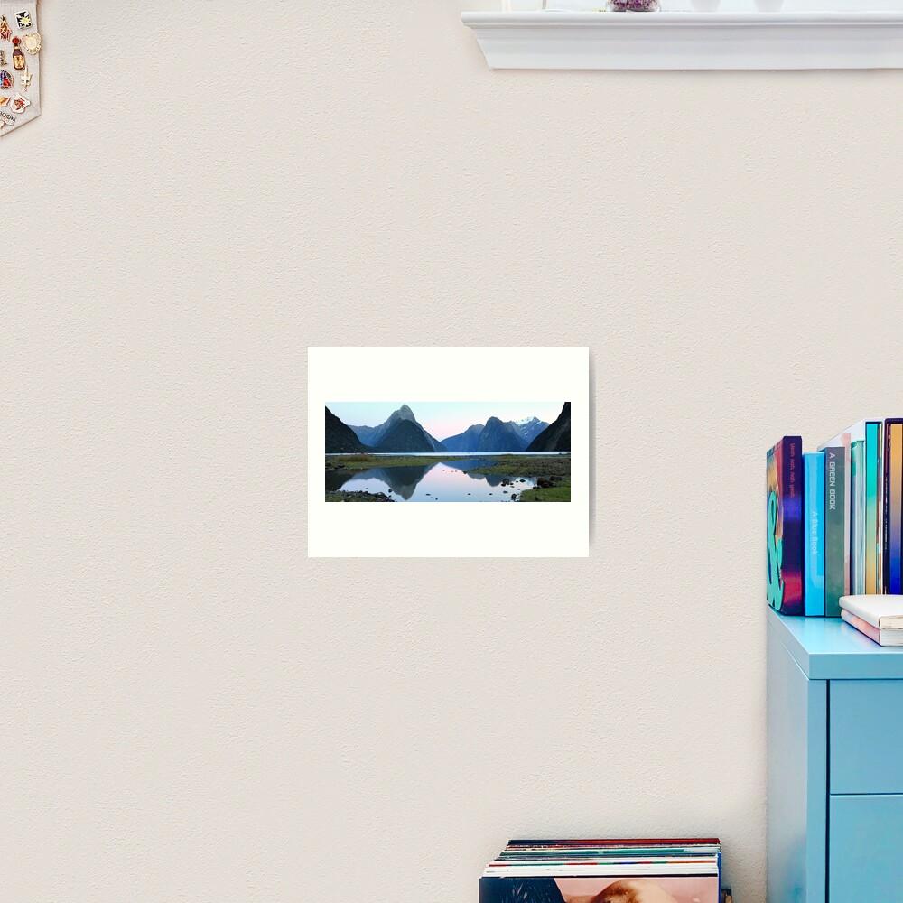 Milford Sound Dawn, South Island, New Zealand Art Print