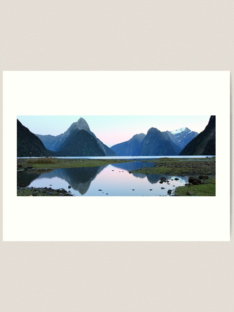 Alternate view of Milford Sound Dawn, South Island, New Zealand Art Print