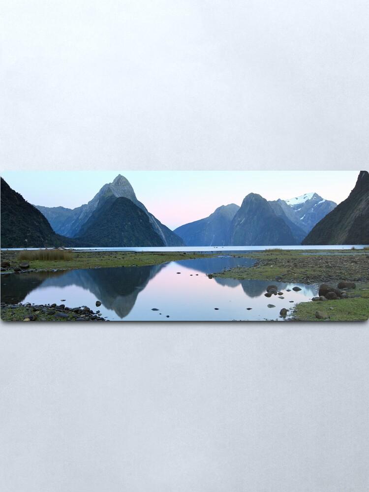 Alternate view of Milford Sound Dawn, South Island, New Zealand Metal Print