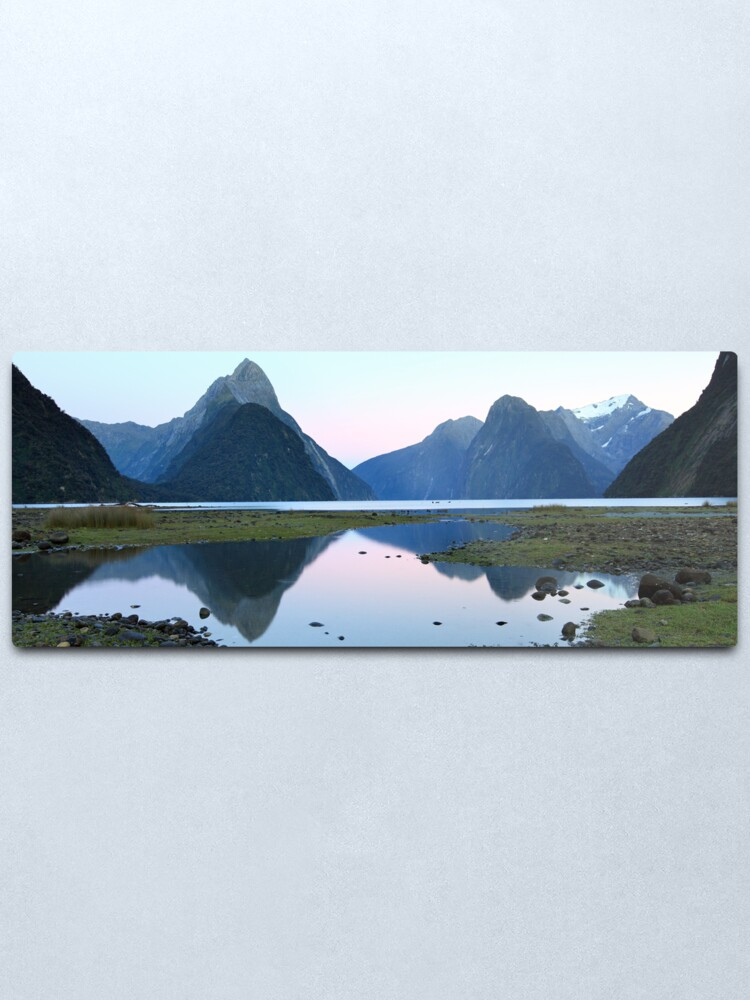 Alternate view of Milford Sound Dawn, South Island, New Zealand Metal Print