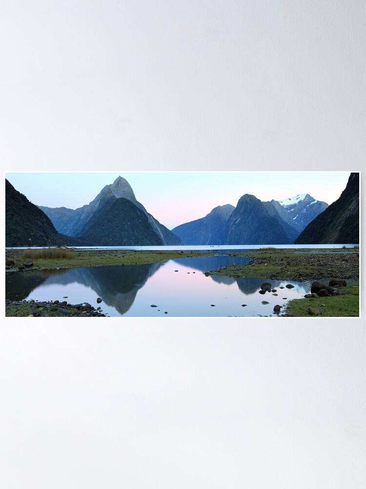 Alternate view of Milford Sound Dawn, South Island, New Zealand Poster