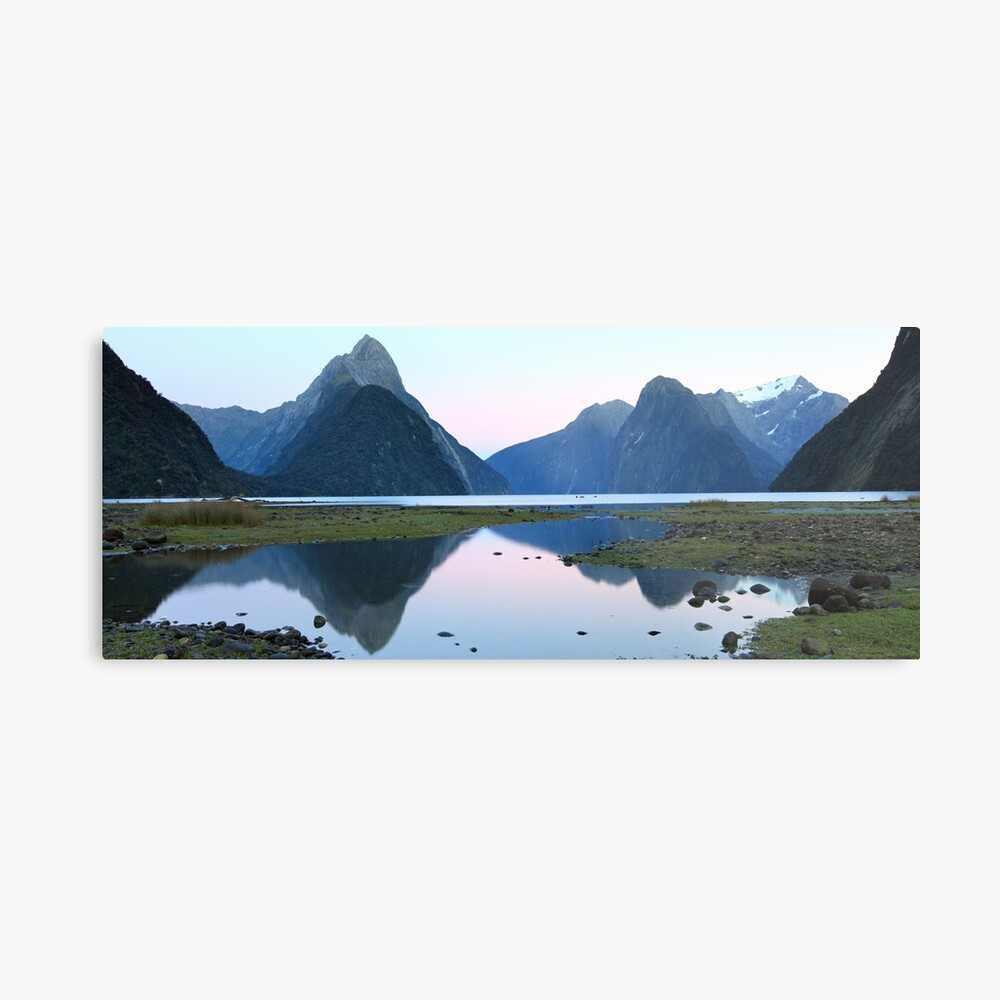 Milford Sound Dawn, South Island, New Zealand Metal Print