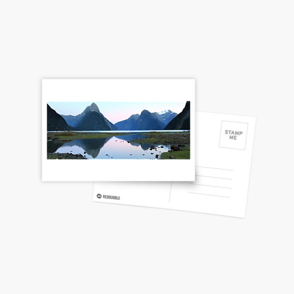 Milford Sound Dawn, South Island, New Zealand Postcard