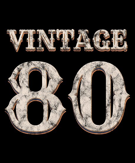 Vintage 80 Tshirt 38th Birthday Gift For 38 Year Old