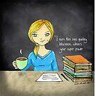 Teacher Tote with tea by cardwellandink