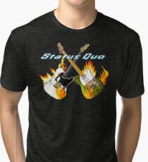 Status Quo Crossed Guitars Tri-blend T-Shirt