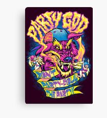 PARTY GOD Canvas Print