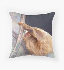 Sloth in the Tropics Throw Pillow