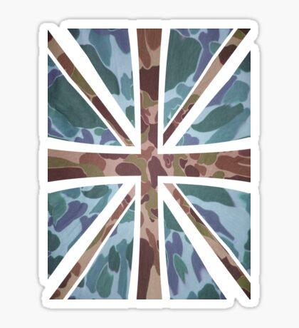 Camo Union Jack Sticker